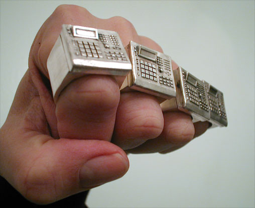 Bill McMullen: DRUM MACHINE RING :  modern drum machines rings jewelry